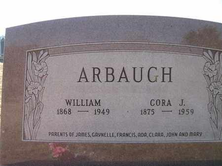 ARBAUGH, WILLIAM MILTON AND CORA JERUSHA - Vinton County, Ohio | WILLIAM MILTON AND CORA JERUSHA ARBAUGH - Ohio Gravestone Photos