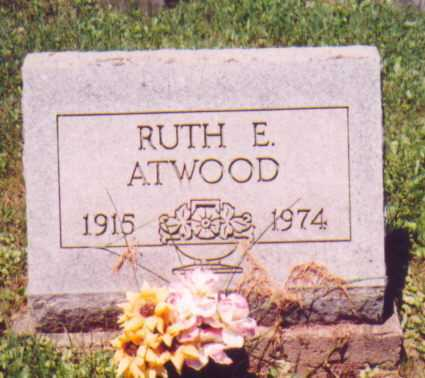 ATWOOD, RUTH E. - Vinton County, Ohio | RUTH E. ATWOOD - Ohio Gravestone Photos