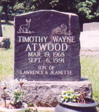 ATWOOD, TIMOTHY WAYNE - Vinton County, Ohio | TIMOTHY WAYNE ATWOOD - Ohio Gravestone Photos