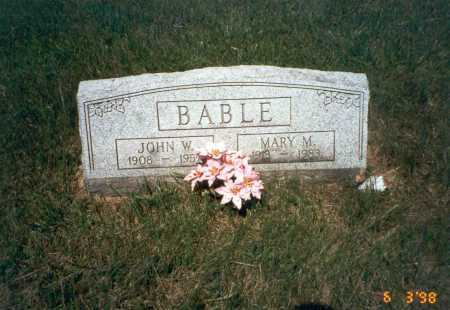 BABLE, JOHN W. - Vinton County, Ohio | JOHN W. BABLE - Ohio Gravestone Photos