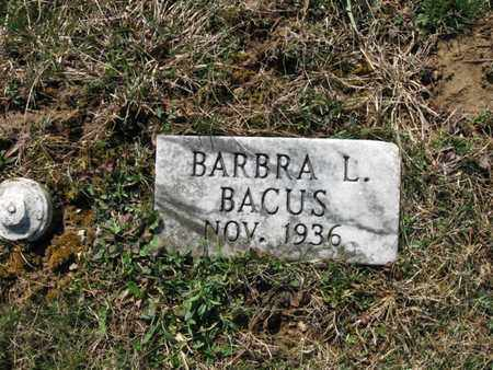 BACUS, BARBRA LORETTA - Vinton County, Ohio | BARBRA LORETTA BACUS - Ohio Gravestone Photos