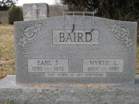 BAIRD, EARL STANLEY AND MYRTIE - Vinton County, Ohio | EARL STANLEY AND MYRTIE BAIRD - Ohio Gravestone Photos