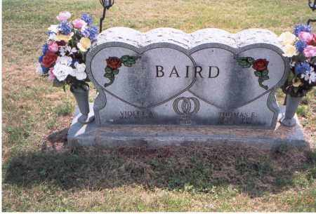 BAIRD, THOMAS E. - Vinton County, Ohio | THOMAS E. BAIRD - Ohio Gravestone Photos