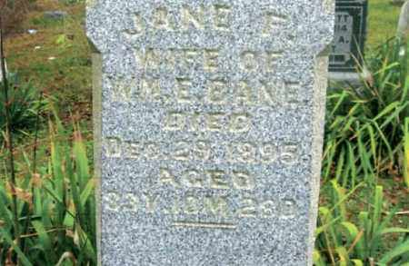 BANE, JANE F. - Vinton County, Ohio | JANE F. BANE - Ohio Gravestone Photos
