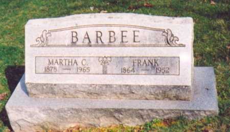 BARBEE, MARTHA C. - Vinton County, Ohio | MARTHA C. BARBEE - Ohio Gravestone Photos