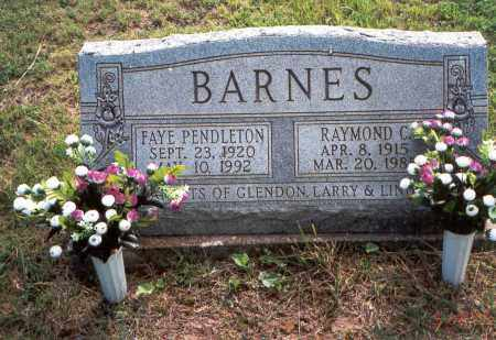 PENDLETON BARNES, FAYE - Vinton County, Ohio | FAYE PENDLETON BARNES - Ohio Gravestone Photos