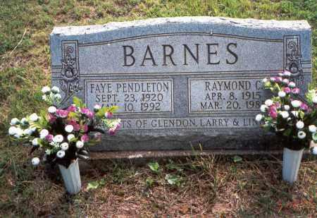 BARNES, FAYE - Vinton County, Ohio | FAYE BARNES - Ohio Gravestone Photos