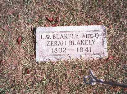 BLAKELY, L. W. - Vinton County, Ohio | L. W. BLAKELY - Ohio Gravestone Photos