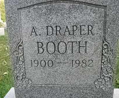 BOOTH, A. DRAPER - Vinton County, Ohio | A. DRAPER BOOTH - Ohio Gravestone Photos