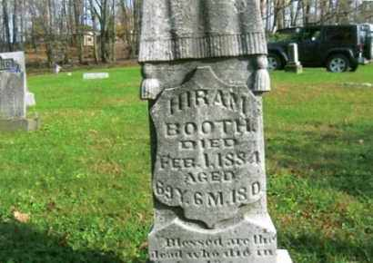 BOOTH, HIRAM - Vinton County, Ohio | HIRAM BOOTH - Ohio Gravestone Photos