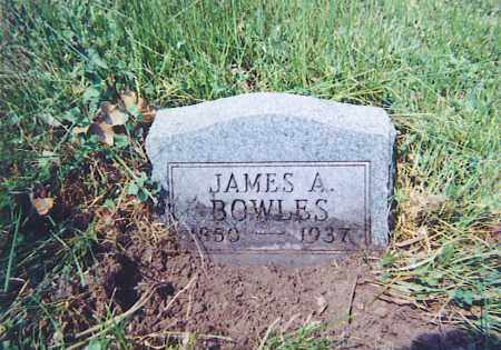 BOWLES, JAMES A. - Vinton County, Ohio | JAMES A. BOWLES - Ohio Gravestone Photos