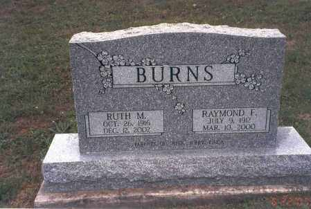 CALVIN BURNS, RUTH M. - Vinton County, Ohio | RUTH M. CALVIN BURNS - Ohio Gravestone Photos
