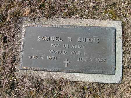 BURNS, SAMUEL DAVID - Vinton County, Ohio | SAMUEL DAVID BURNS - Ohio Gravestone Photos