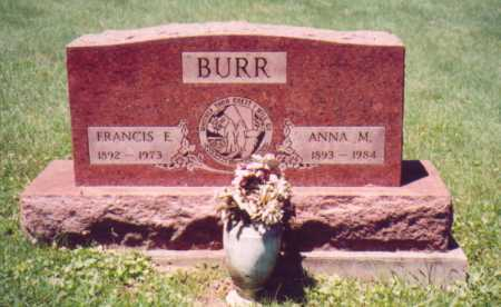 BURR, FRANCIS E. - Vinton County, Ohio | FRANCIS E. BURR - Ohio Gravestone Photos