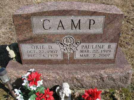 BURNS CAMP, OKIE DELMONT & PAULINE BLORE - Vinton County, Ohio | OKIE DELMONT & PAULINE BLORE BURNS CAMP - Ohio Gravestone Photos