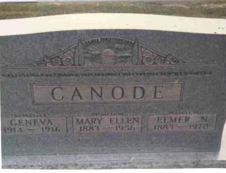 RILEY CANODE, MARY ELLEN - Vinton County, Ohio | MARY ELLEN RILEY CANODE - Ohio Gravestone Photos