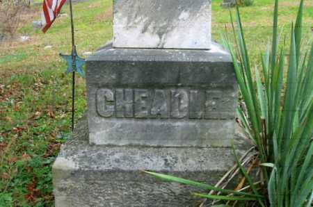 CHEADLE, CLOSE-UP - Vinton County, Ohio   CLOSE-UP CHEADLE - Ohio Gravestone Photos