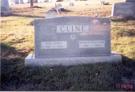 HOLCOMB CLINE, MYRTLE - Vinton County, Ohio | MYRTLE HOLCOMB CLINE - Ohio Gravestone Photos