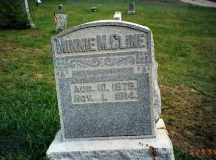 FLETCHER CLINE, MINNIE M. - Vinton County, Ohio | MINNIE M. FLETCHER CLINE - Ohio Gravestone Photos