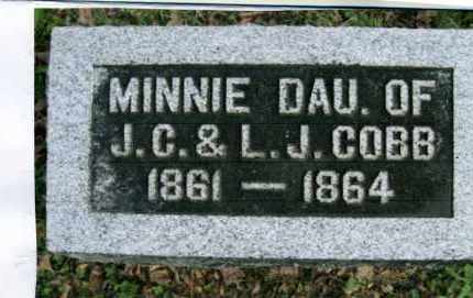 COBB, MINNIE - Vinton County, Ohio | MINNIE COBB - Ohio Gravestone Photos