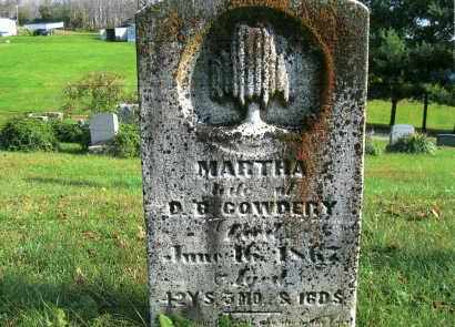 COWDERY, MARTHA - Vinton County, Ohio | MARTHA COWDERY - Ohio Gravestone Photos