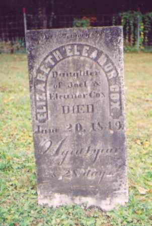 COX, ELIZABETH ELEANOR - Vinton County, Ohio | ELIZABETH ELEANOR COX - Ohio Gravestone Photos