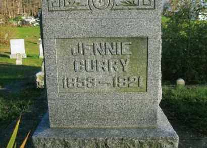 CURRY, JENNIE - Vinton County, Ohio | JENNIE CURRY - Ohio Gravestone Photos