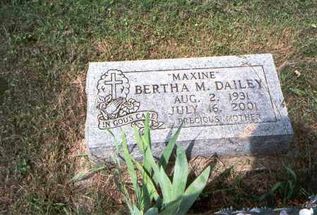 "DAILEY, BERTHA  M.    ""MAXINE"" - Vinton County, Ohio 