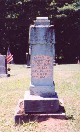 DAVIS, ELIZA J. (ORIGINAL STONE) - Vinton County, Ohio | ELIZA J. (ORIGINAL STONE) DAVIS - Ohio Gravestone Photos