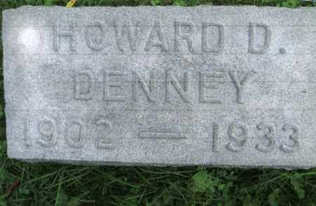 DENNEY, HOWARD D. - Vinton County, Ohio | HOWARD D. DENNEY - Ohio Gravestone Photos