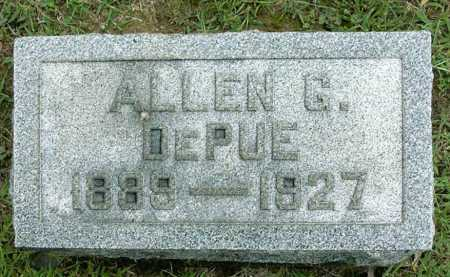 DEPUE, ALLEN GORDEN - Vinton County, Ohio | ALLEN GORDEN DEPUE - Ohio Gravestone Photos