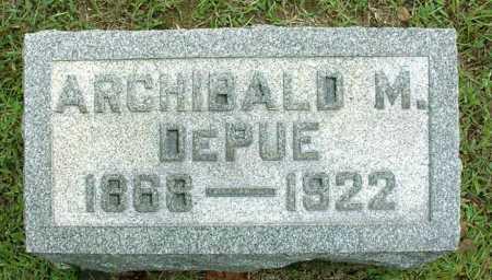 DEPUE, ARCHIBALD MAYS - Vinton County, Ohio | ARCHIBALD MAYS DEPUE - Ohio Gravestone Photos