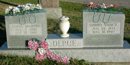DEPUE, DAVID VANCE - Vinton County, Ohio | DAVID VANCE DEPUE - Ohio Gravestone Photos