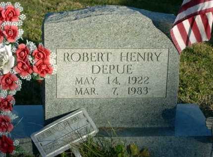 DEPUE, ROBERT HENRY - Vinton County, Ohio | ROBERT HENRY DEPUE - Ohio Gravestone Photos