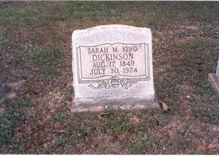 DICKINSON, SARAH M. - Vinton County, Ohio | SARAH M. DICKINSON - Ohio Gravestone Photos