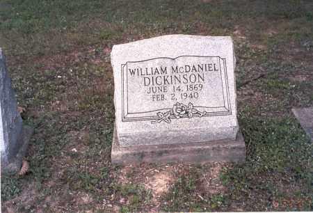DICKINSON, WILLIAM MCDANIEL - Vinton County, Ohio | WILLIAM MCDANIEL DICKINSON - Ohio Gravestone Photos