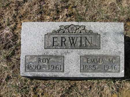 THACKER ERWIN, ROY AND EMMA MAE - Vinton County, Ohio | ROY AND EMMA MAE THACKER ERWIN - Ohio Gravestone Photos