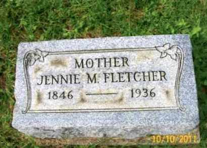 MARTINDALE FLETCHER, JENNIE M. - Vinton County, Ohio | JENNIE M. MARTINDALE FLETCHER - Ohio Gravestone Photos
