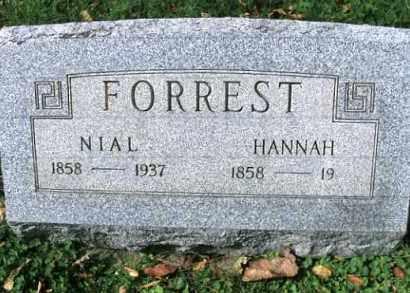 FORREST, HANNAH - Vinton County, Ohio | HANNAH FORREST - Ohio Gravestone Photos