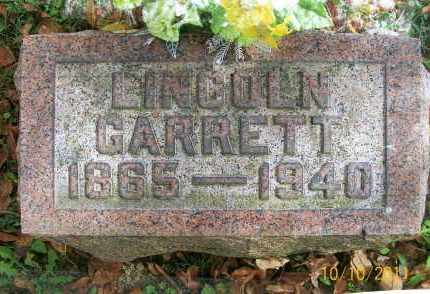 GARRETT, LINCOLN - Vinton County, Ohio | LINCOLN GARRETT - Ohio Gravestone Photos
