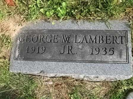 LAMBERT, JR. GEORGE, MADISON - Vinton County, Ohio | MADISON LAMBERT, JR. GEORGE - Ohio Gravestone Photos