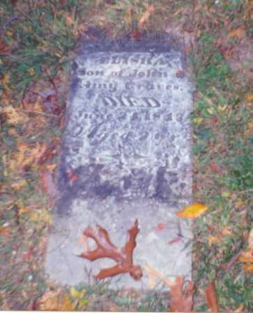 GRAVES, ELISHA - Vinton County, Ohio | ELISHA GRAVES - Ohio Gravestone Photos