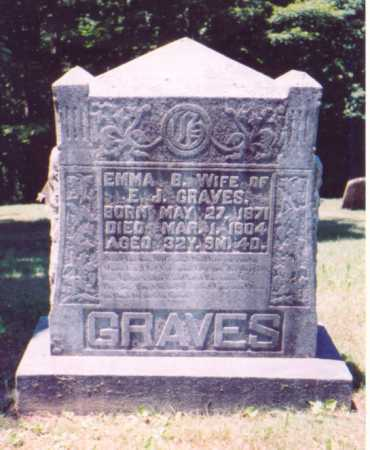 GRAVES, EMMA B. - Vinton County, Ohio | EMMA B. GRAVES - Ohio Gravestone Photos