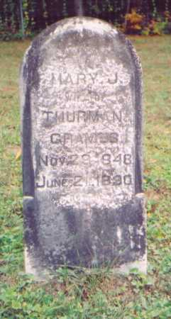 GRAVES, MARY J. - Vinton County, Ohio | MARY J. GRAVES - Ohio Gravestone Photos