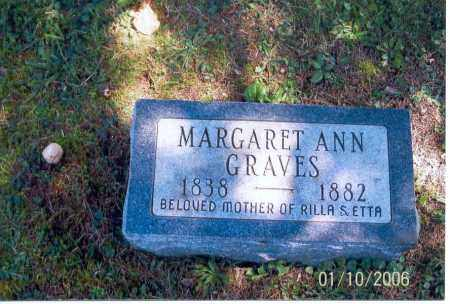 GRAVES, MARGARET ANN - Vinton County, Ohio | MARGARET ANN GRAVES - Ohio Gravestone Photos