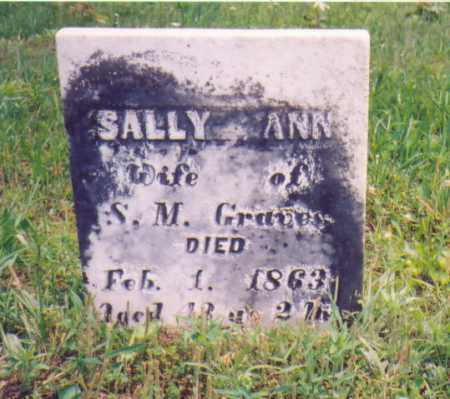 COX GRAVES, SALLY ANN - Vinton County, Ohio | SALLY ANN COX GRAVES - Ohio Gravestone Photos