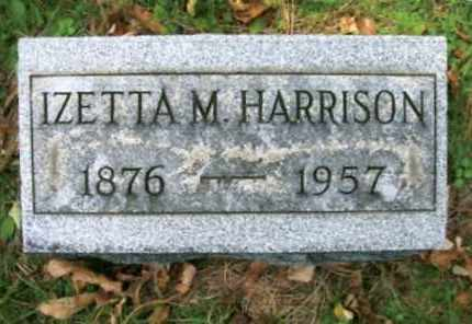 HARRISON, IZETTA M. - Vinton County, Ohio | IZETTA M. HARRISON - Ohio Gravestone Photos