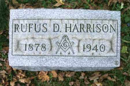 HARRISON, RUFUS DERRY - Vinton County, Ohio | RUFUS DERRY HARRISON - Ohio Gravestone Photos
