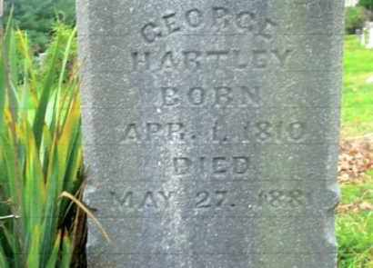 HARTLEY, GEORGE - Vinton County, Ohio | GEORGE HARTLEY - Ohio Gravestone Photos