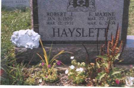 HAYSLETT, E. MAXINE - Vinton County, Ohio | E. MAXINE HAYSLETT - Ohio Gravestone Photos